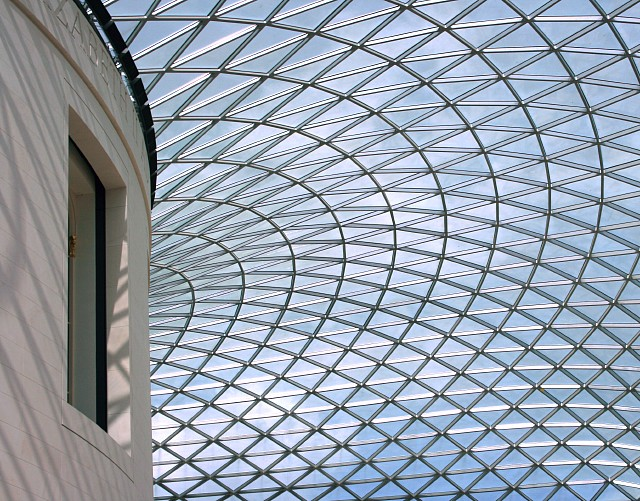 The glass roof of the Great Court, British Museum