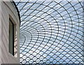 TQ3081 : The glass roof of the Great Court, British Museum by Hugh Chevallier