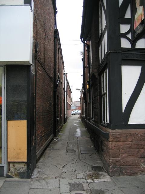 Claremont Walk off Foregate Street