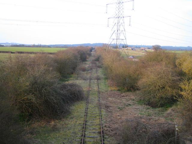 Disused railway line near Knapps Hook Farm