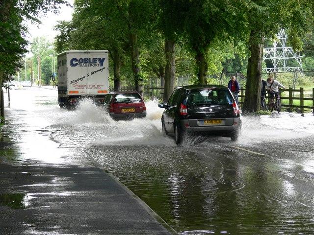 Braunstone Lane East flooding