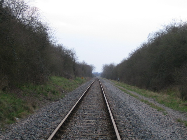 Railway line near Woodlands Farm