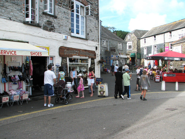 Padstow street scene in high summer