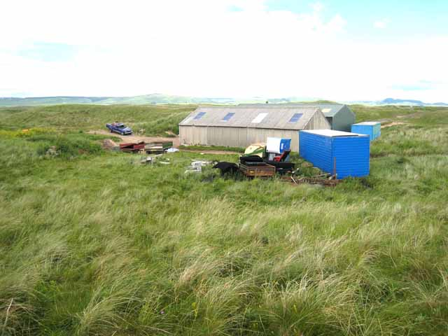 Large shed in the sand dunes at Machrihanish