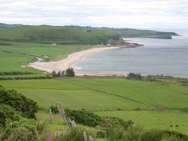 Carskey Bay and the mouth of the Breackerie Water