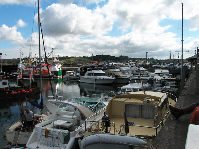 Padstow harbour in high summer