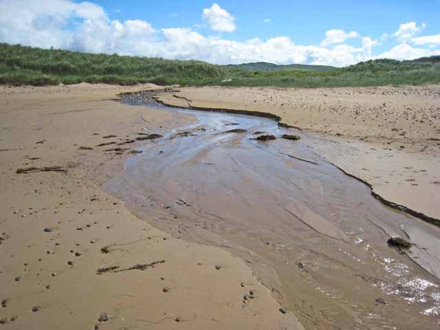 Stream on Machrihanish Beach