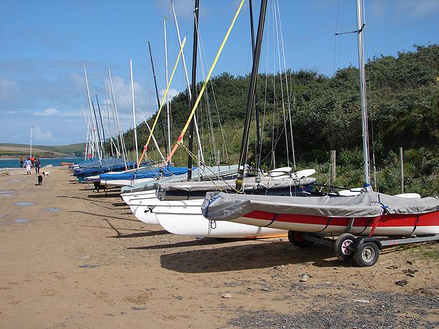 Sailing dinghies at Rock