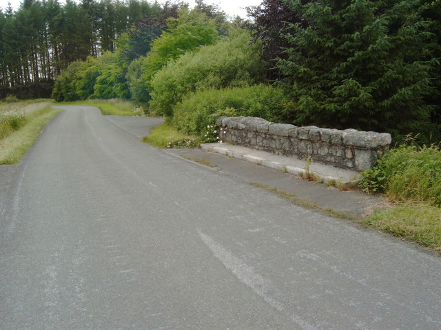 Road through Laurieston Forest at Lochenbreck Bridge