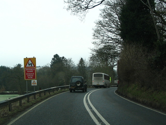 A40 Road Near To Llandovery