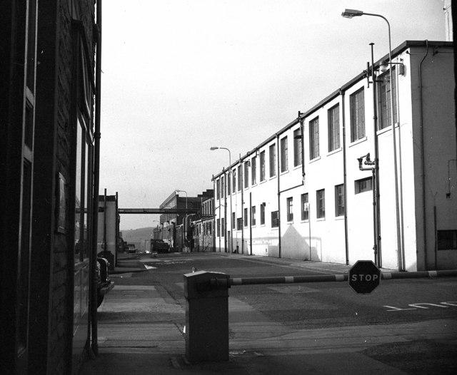 Entrance to Rolls Royce, Barnoldswick