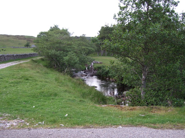Upstream Allt a'Mhuilinn