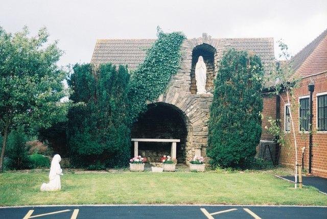 Ensbury Park: shrine at St. Bernadette's church