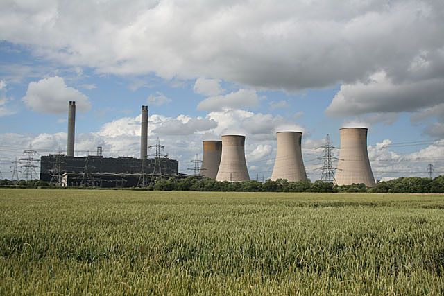 West Burton Power Station from Common Lane