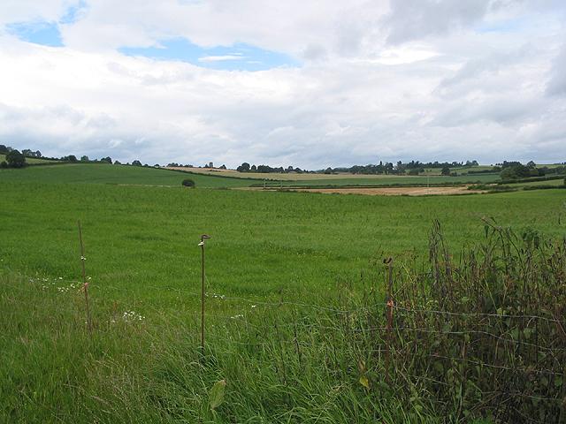 Farmland at the foot of the Penyard