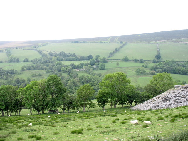 View across Cwm Nant y Pandy in the direction of Plasnewydd