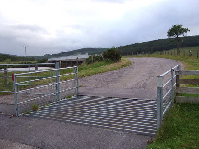 A cattle grid at Balnacoil