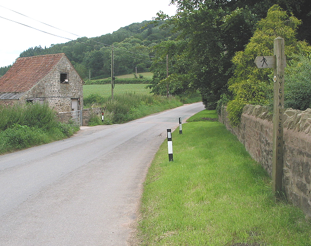Signpost for the Wye Valley Walk