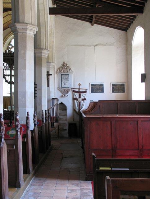 All Saints, Weston Longville, Norfolk - South aisle