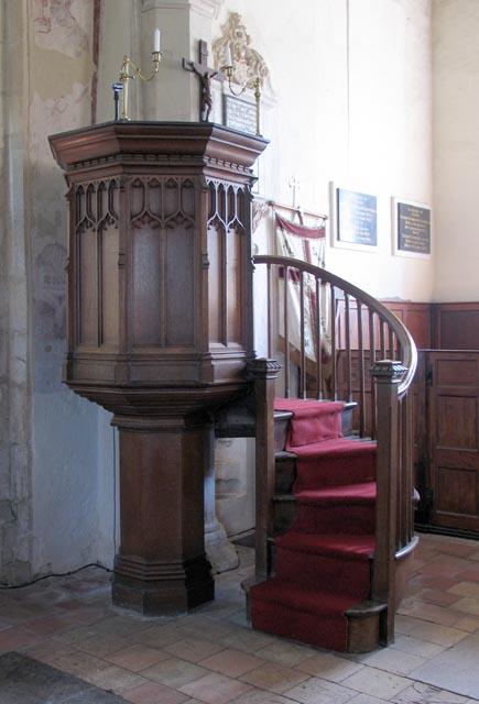 All Saints, Weston Longville, Norfolk - Pulpit