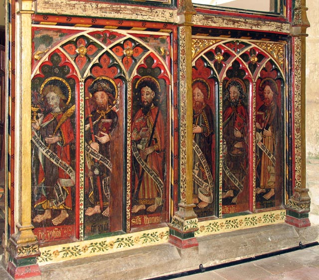 All Saints, Weston Longville, Norfolk - Screen