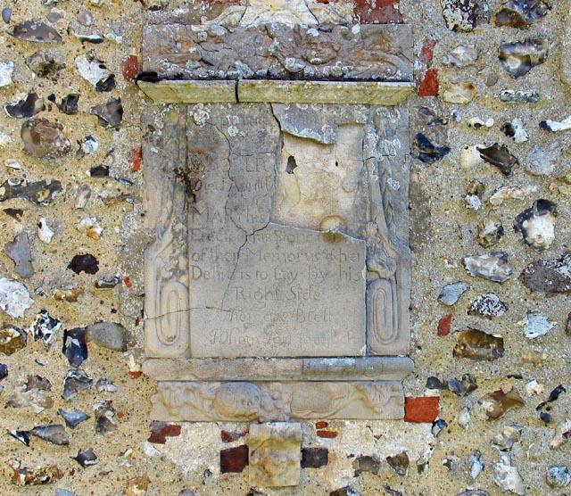 All Saints, Weston Longville, Norfolk - Exterior wall monument
