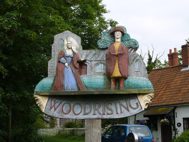 Woodrising Village Sign