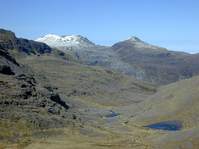 View north west from under Meall Garbh