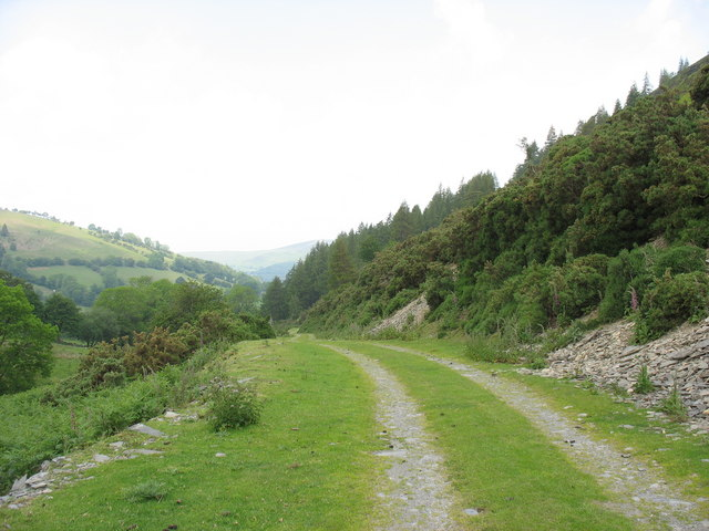 The tramway descent towards Tan-y-graig