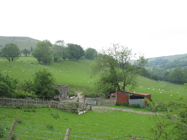 A sheepfold and rusting sheds at Tan-y-graig