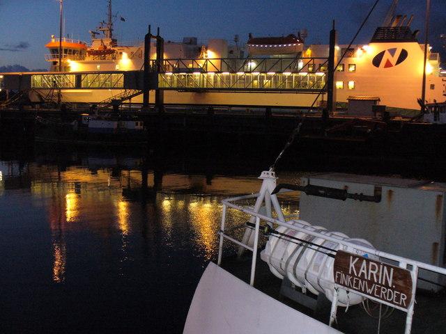 MV Hamnavoe Overnighting in Stromness Harbour