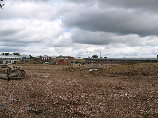 Brownfield Site awaiting development in Dragon Lane