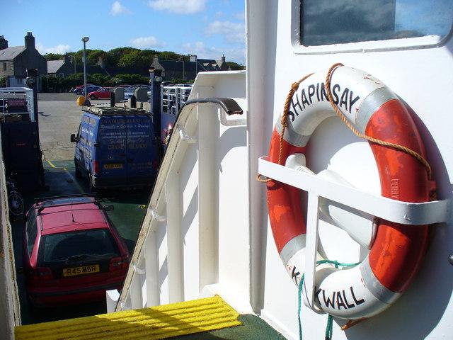 The Shapinsay Ferry