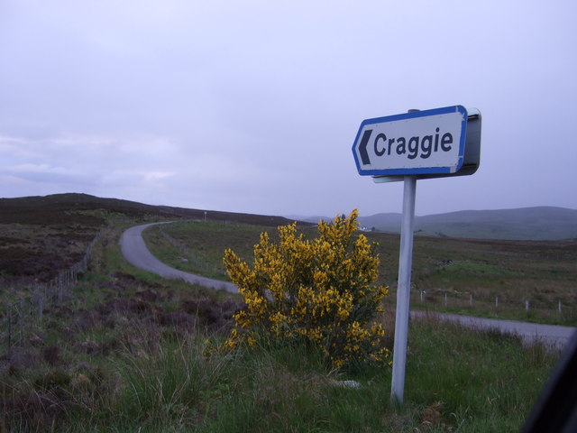 The Craggie road junction