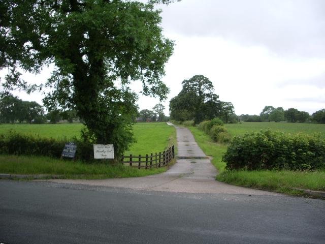 The road to Sheardley Fold Farm