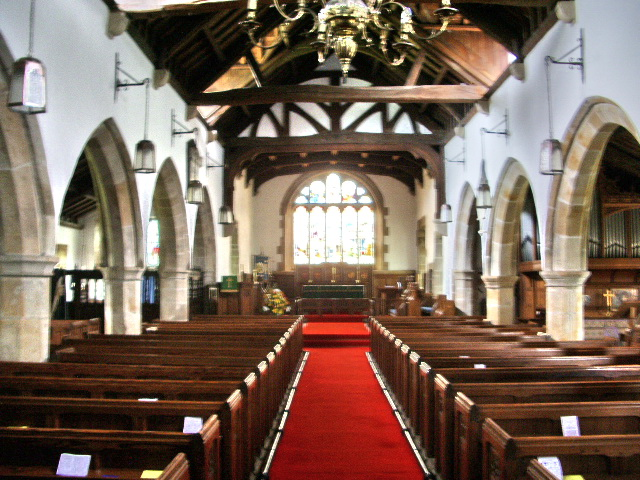 Interior of The Parish Church of St Mary the Virgin, Goosnargh