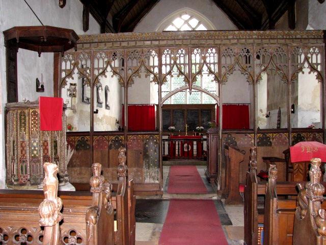 St Edmund's church in South Burlingham - view east