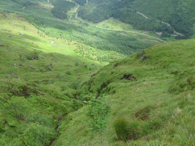 Cruach Fhiarach towards Glen Croe