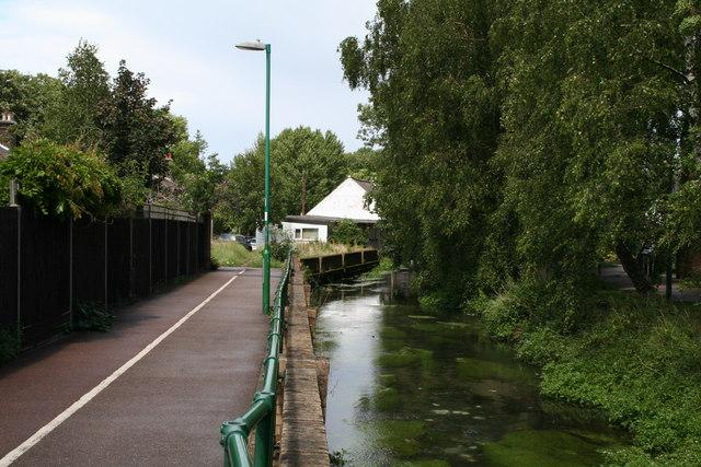River Wandle, behind Mill Lane, Carshalton