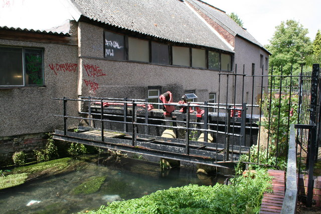 Wandle sluices, Carshalton, Surrey