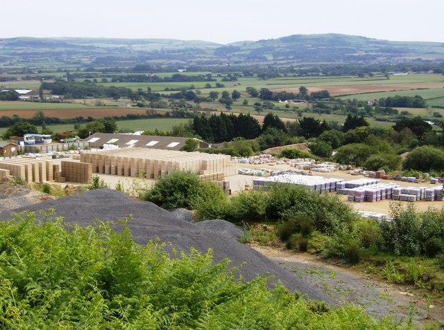 Quarrying works on St. George's Down