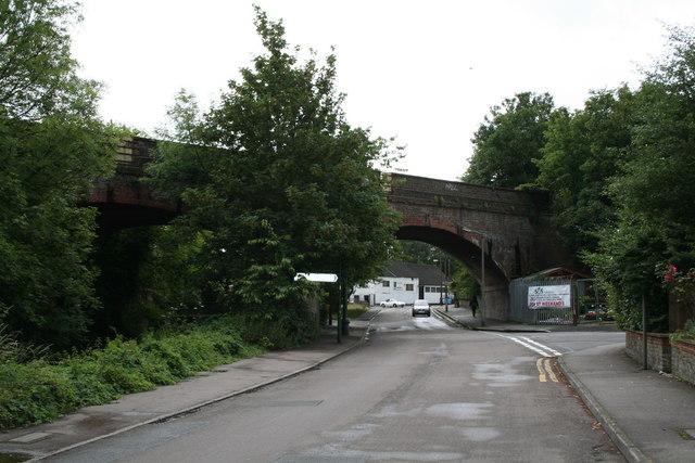 Railway Bridge over Mill Lane, Carshalton, Surrey