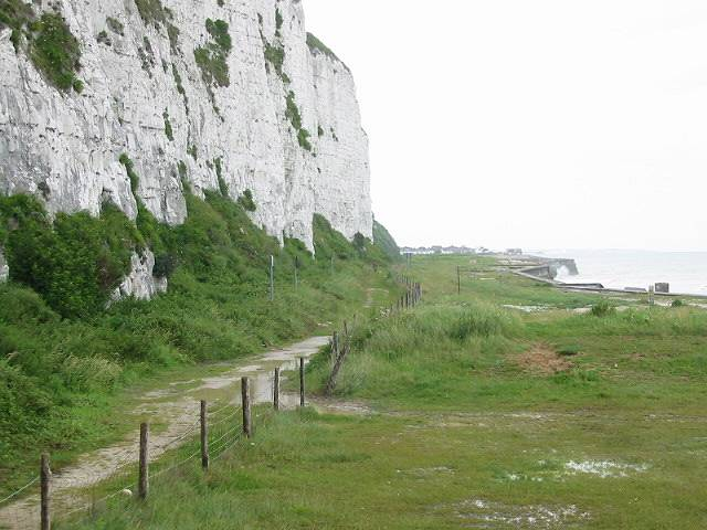 Under cliff path and old firing range