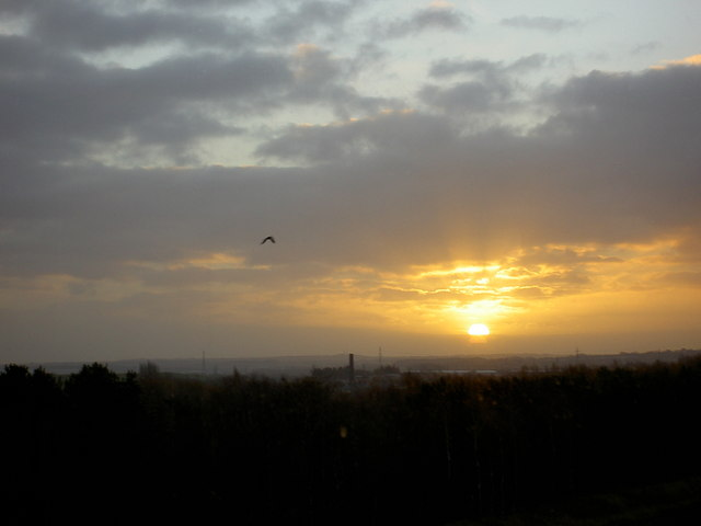 Sunrise over the Dearne Valley.