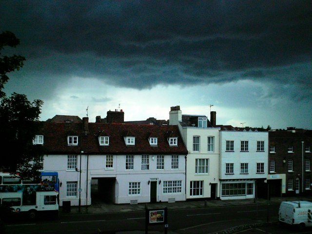 Storm clouds over Canterbury