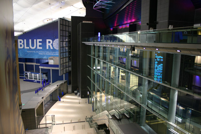 Main entrance to Arena in 02