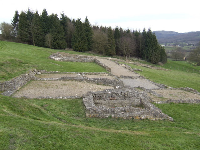 Great Witcombe Roman Villa - from the south