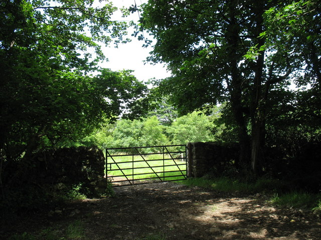 A field gate alongside the Plas Tirion Driveway