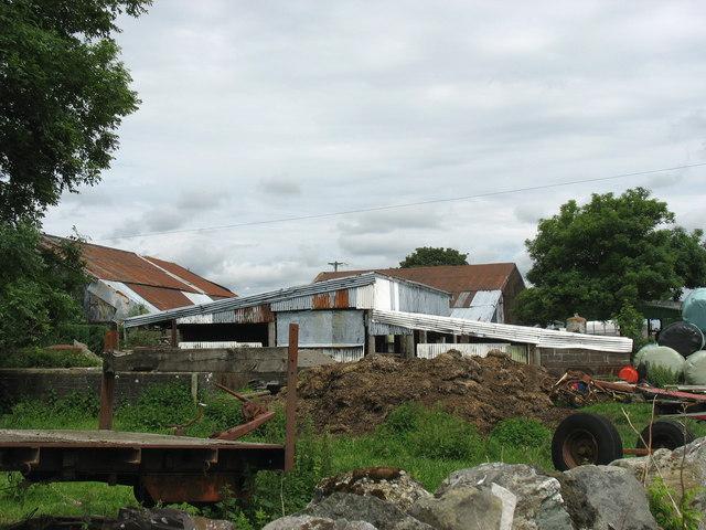 Sheds at Bryn Llan Farm