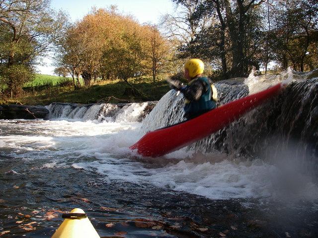 Kayaking a Waterfall